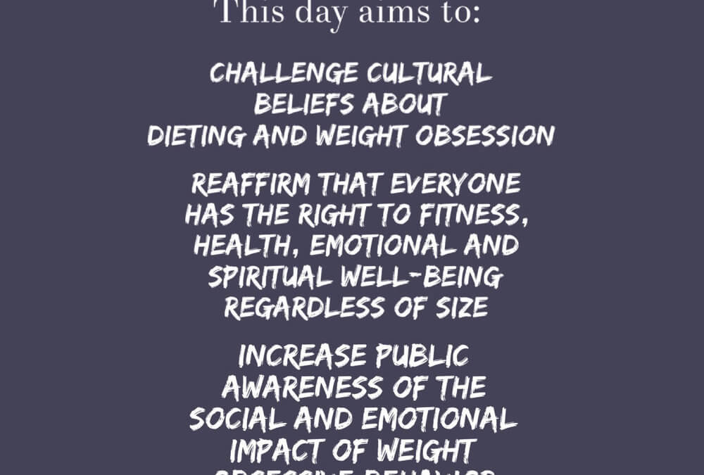 International No Diet Day – May 6th, 2015