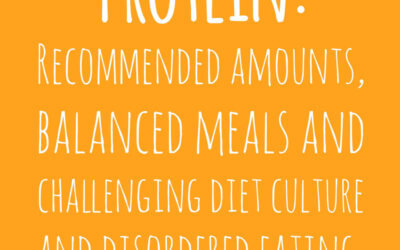 Protein: Recommended Amounts, Balanced Meals and Challenging Diet Culture and Disordered Eating