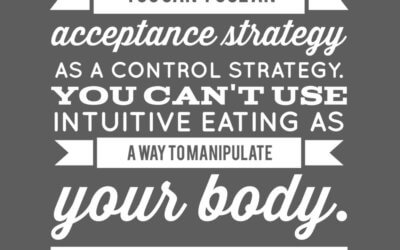 Intuitive Eating Clarifications (spoiler – IE isn't about weight loss and is about respect)