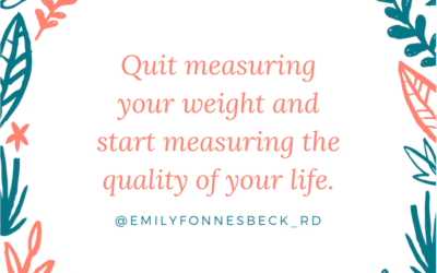 Measuring Quality of Life, Not Weight