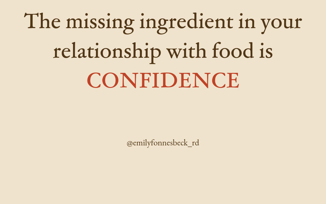 Eat Confident Foundations – the 8 skills and strategies for becoming a confident eater