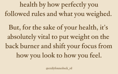 Why focusing on weight can be harmful to your health
